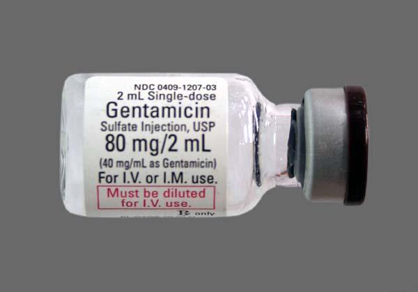 Dạng thuốc tiêm Gentamicin 80mg/2ml
